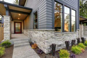 Siding and Stone Combination